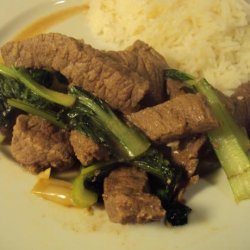 Ginger Beef With Bok Choy recipe