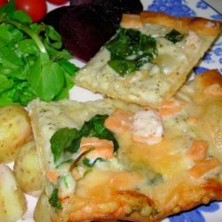 Smoked Salmon and Goat Cheese Pizza recipe