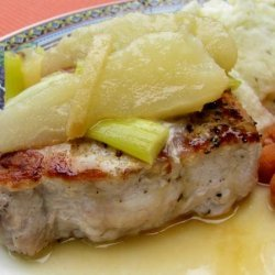 Pork Chops With Ginger Pear Sauce recipe