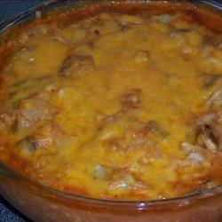 Tomato Cheesy Cabbage and Mushroom Casserole recipe