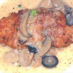 Deep Fried Mushroom & Black Olive Chicken recipe