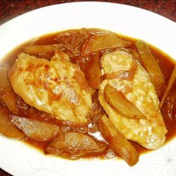 Curried Chicken With Pears recipe