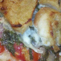 Tomato, Chard, and Gruyere Casserole recipe