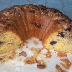 Lemon Pudding Cake W Mixed Berries and Powdered Sugar Glaze recipe