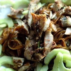 Smoked Mackerel Noodles With Cucumber and Herbs recipe