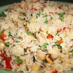 Basmati Rice, Chickpeas & Toasted Almonds recipe