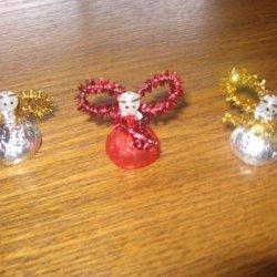 Christmas Angel Hershey Kiss Ornament Craft recipe