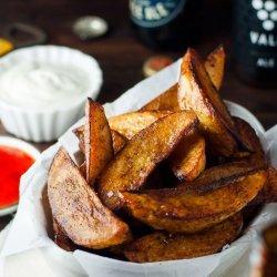 Seasoned Baked Potato Wedges recipe