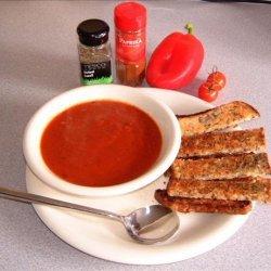 Red Pepper, Tomato and Onion Soup. recipe