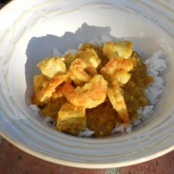 Curried Chicken and Shrimp recipe