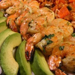 Cilantro Lime Shrimp With a Honey Lime Dipping Sauce recipe