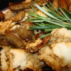 Balsamic Rosemary Veal Medallions W. Mushrooms and Goats Cheese recipe