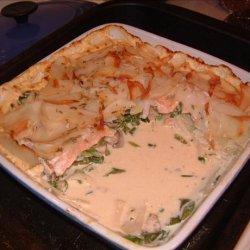 Potato and Smoked Salmon Lasagna recipe