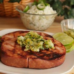 Grilled Ham Slice With Pineapple Salsa recipe