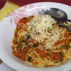 Spaghetti With Fresh Tomato and Basil Sauce recipe