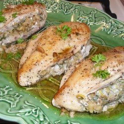 Chicken Breasts Stuffed With Basil Walnut Butter recipe