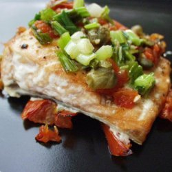 Salmon Fillets in Tomato Caper Sauce recipe