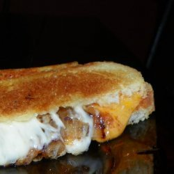 Sweet and Spicy Caramelized Onion & BBQ Grilled Cheese recipe
