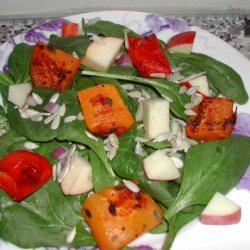 Roasted Butternut Squash and Spinach Salad recipe