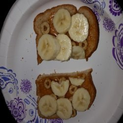 Peanut Butter & Honey & Banana & Cheerio Sandwich recipe