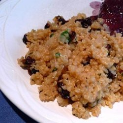 Quinoa With Cherries and Herbs recipe