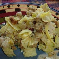 Artichoke Parmesan Sourdough Stuffing recipe