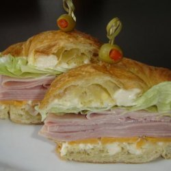 Ham and Cheese Croissant Sandwiches recipe