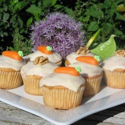 Carrot Ginger Cupcakes With Spiced Cream Cheese Frosting recipe