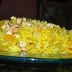 Ginger Apricot Rice With Peanuts recipe