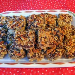 Chocolate Raisin Nut Crunch Bars recipe