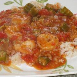 Shrimp Creole over Rice recipe