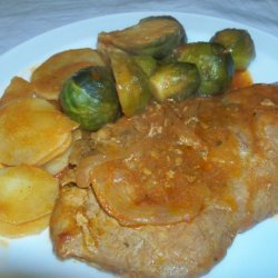 Brussel Sprout With Pork Chop in Tomato Sauce recipe