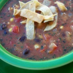 Crockpot Black Bean Tortilla Soup recipe