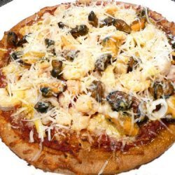 Quick & Easy (& HEALTHY) Mixed Seafood Pizza recipe