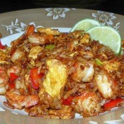 Fried Rice With Prawn & Egg recipe
