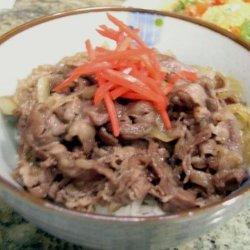 Beef Donburi California Style - Beef Bowl recipe