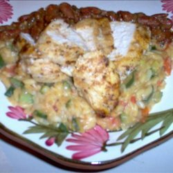 Tuscany Chicken and Orzo With Bean Dressing recipe
