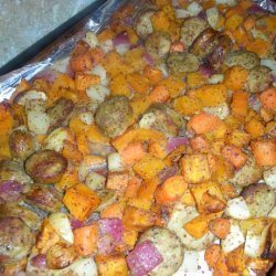 Roasted Vegetables With Chicken Sausage recipe