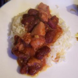 Red Beans and Rice With Ham and Chorizo recipe