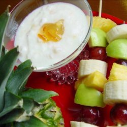 Fruit Kabobs With Coconut Dressing recipe