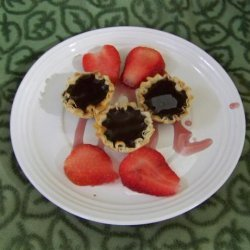 Warm Chocolate Tart With Red Wine Sauce recipe