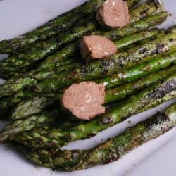 Grilled Asparagus With Barbecue Butter recipe