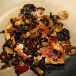 Chicken With Onions, Olives and Capers recipe