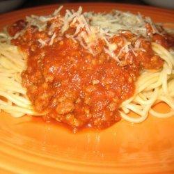 Italian Spaghetti With Meat Sauce recipe