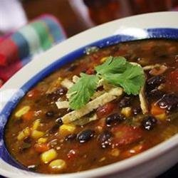 Black Bean Soup with Bacon recipe