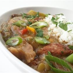 Dupre Family Chicken and Sausage Gumbo recipe