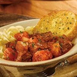 Roasted Garlic Beef Stew with Pepperidge Farm(R) Texas Toast recipe