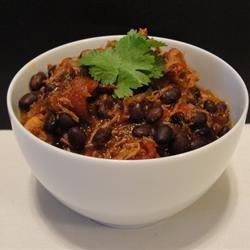 Grandma's Chicken and Black Bean Chili recipe