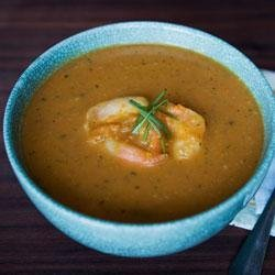 Spicy Pumpkin and Shrimp Soup from the LACTAID(R) Brand recipe