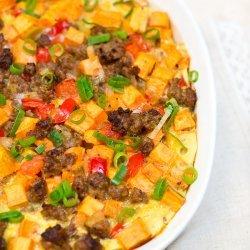 Sweet Potato Sausage Casserole recipe